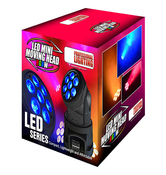 RGBWA+UV 6in1 Small LED Moving Head Light for Stage Lighting
