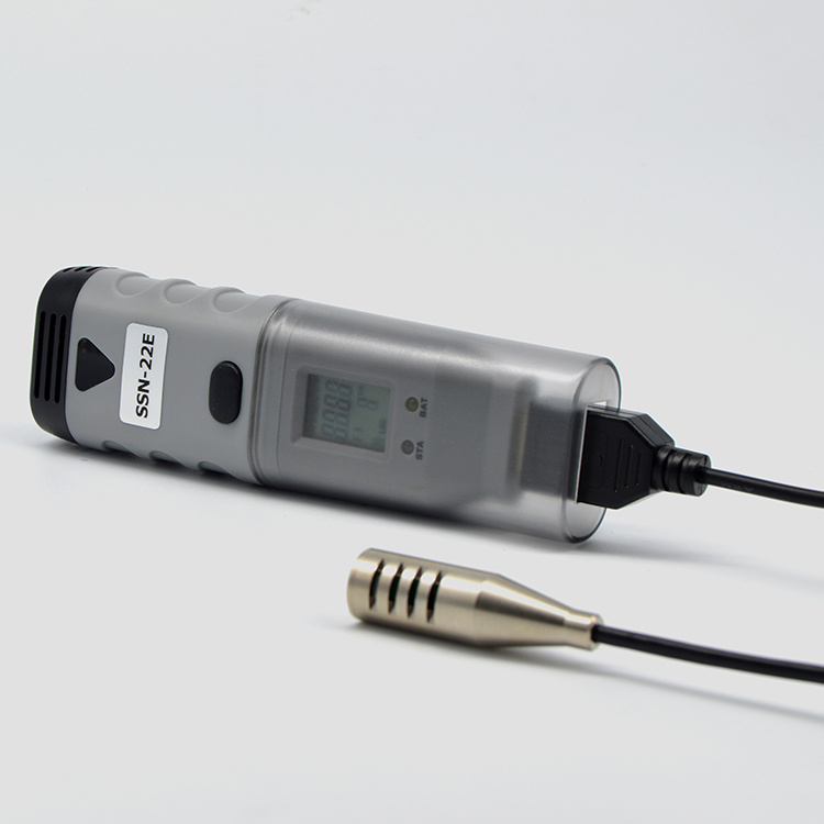 Temperature Humidity Data Logger Recorder with Probe for Warehouse Ssn-22e