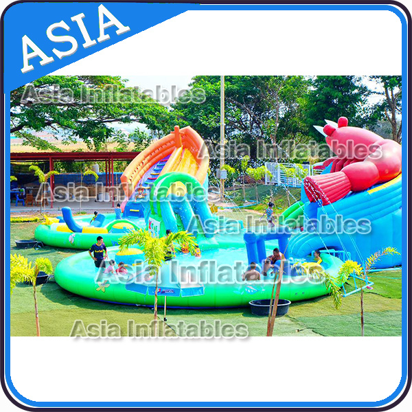Giant Inflatable Shrimp Shape Water Park, Inflatable Amusement Park