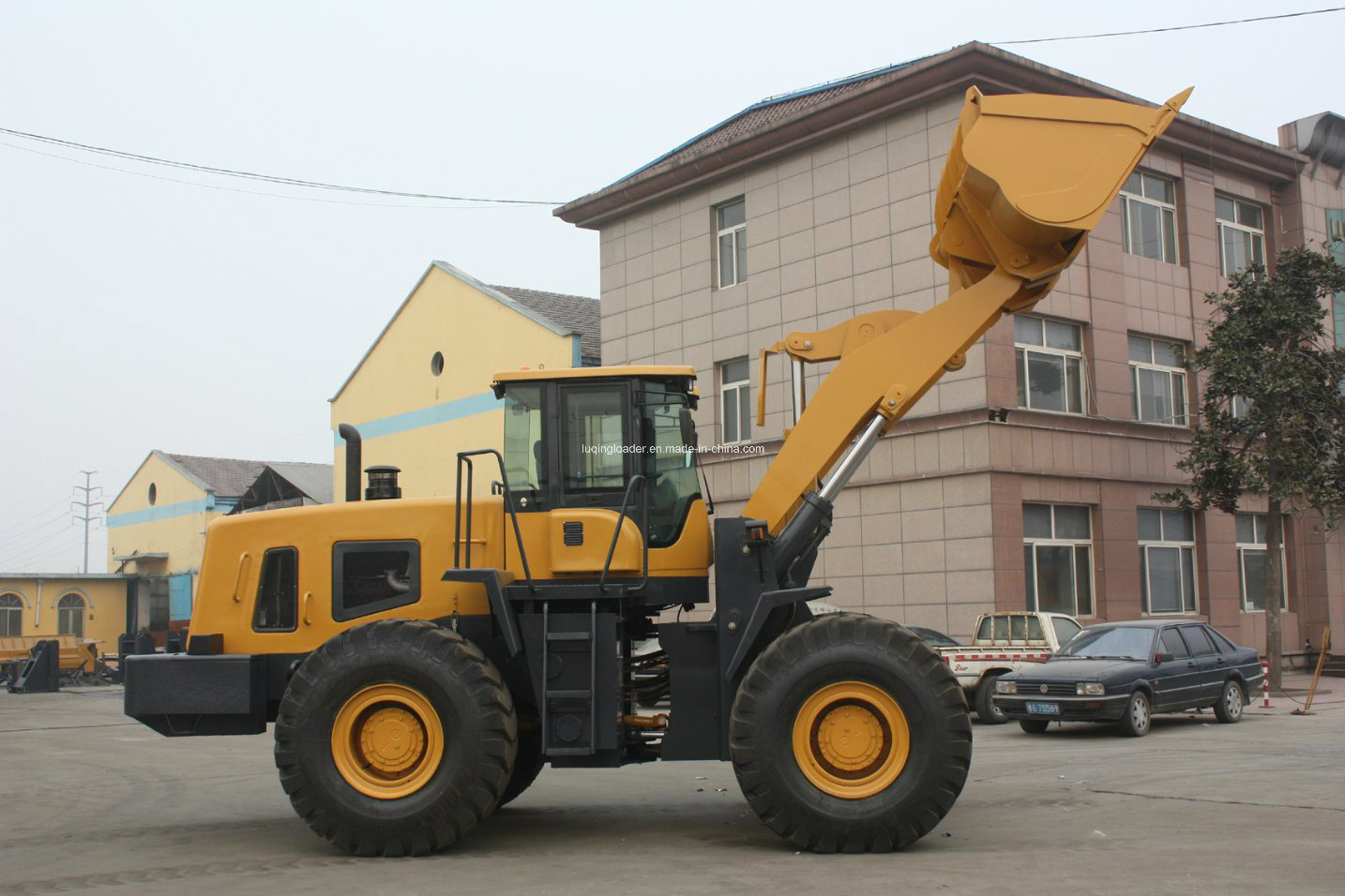 5ton Pilot Control Large Luqing Wheel Loader with Ce