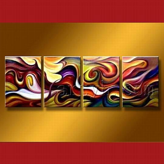 Peinture abstraite de groupe sur la toile pictures for Toile abstraite