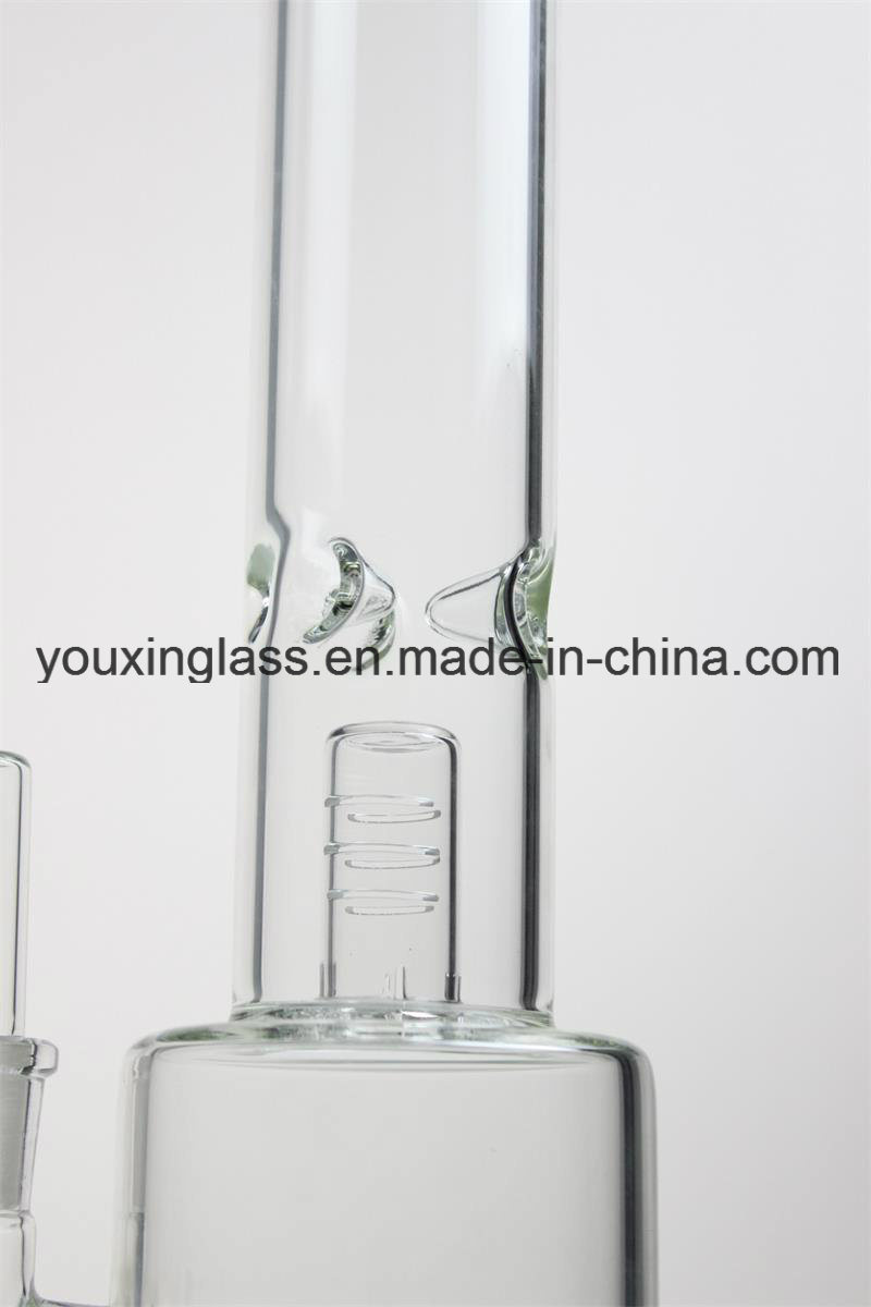 16.4′′ Glass Smoking Pipe Glass Water Pipe with Inner Triple Layer Percolator and Little Head