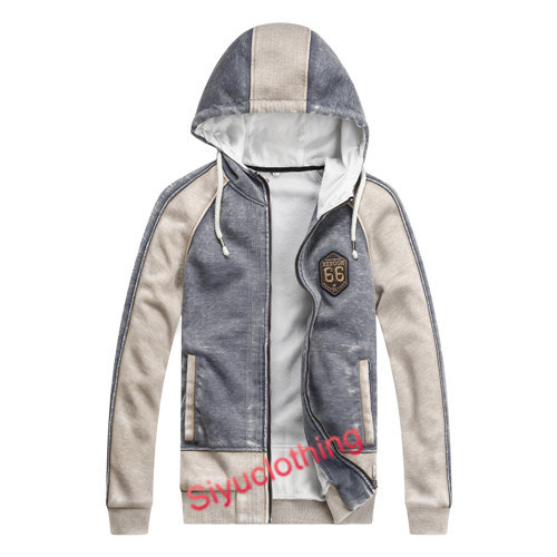 Mens 100%Cotton Hoody Fashion Casual Jacket Sweater (J-1625)