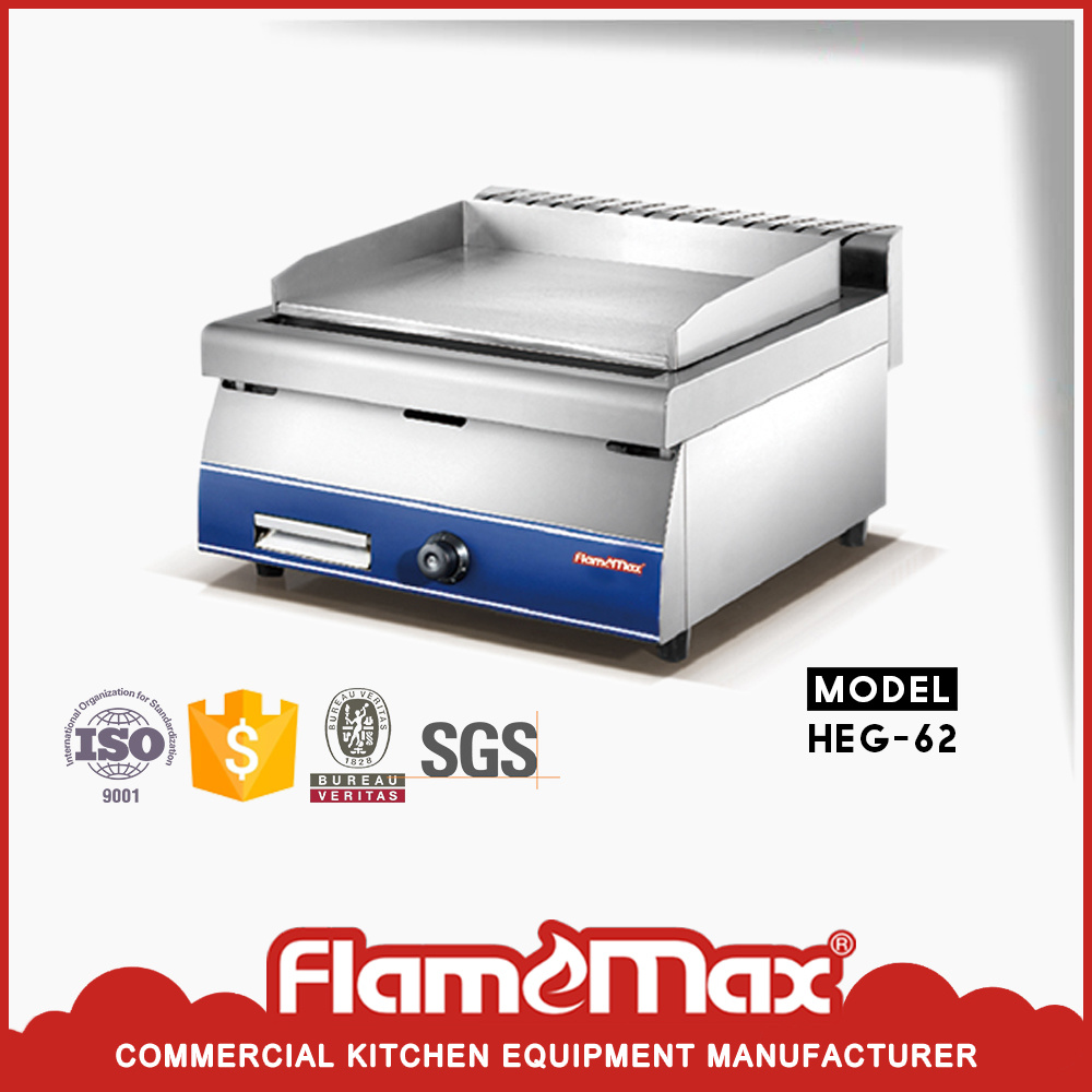 Stainles Steel Electric Countertop BBQ Griddle Machine for Commercial Use (HEG-62)