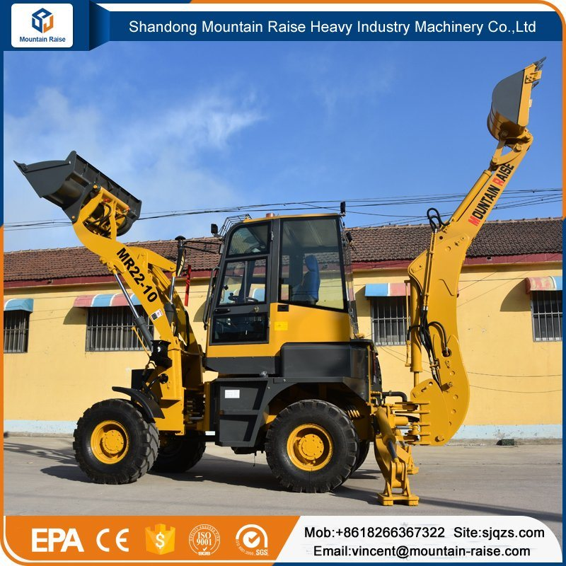 High Quality New Design Compact Small Digger Backhoe Loader