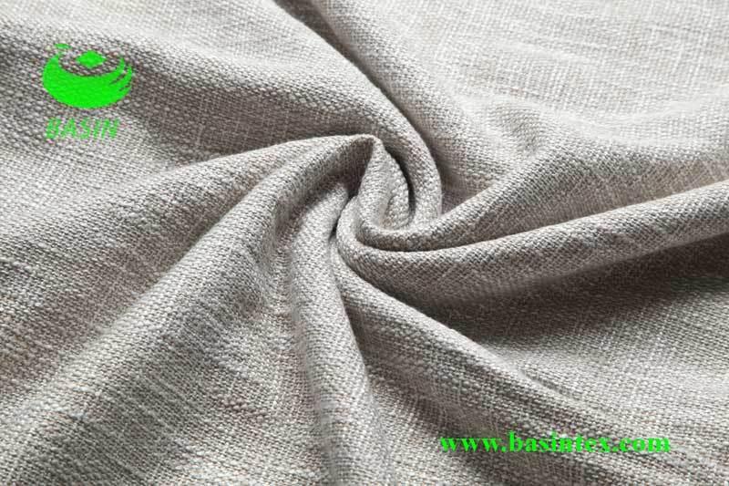 Polyester Viscose Sofa Linen Fabric Bs6012