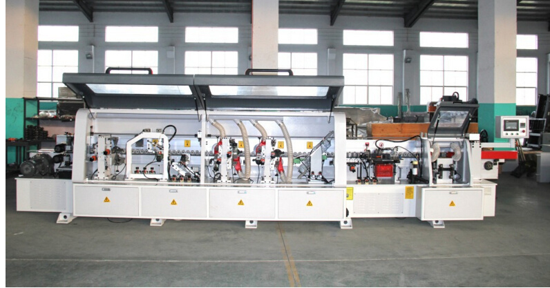 Woodworking with Slotting Full Automatic Linear Edge Bonding Machine