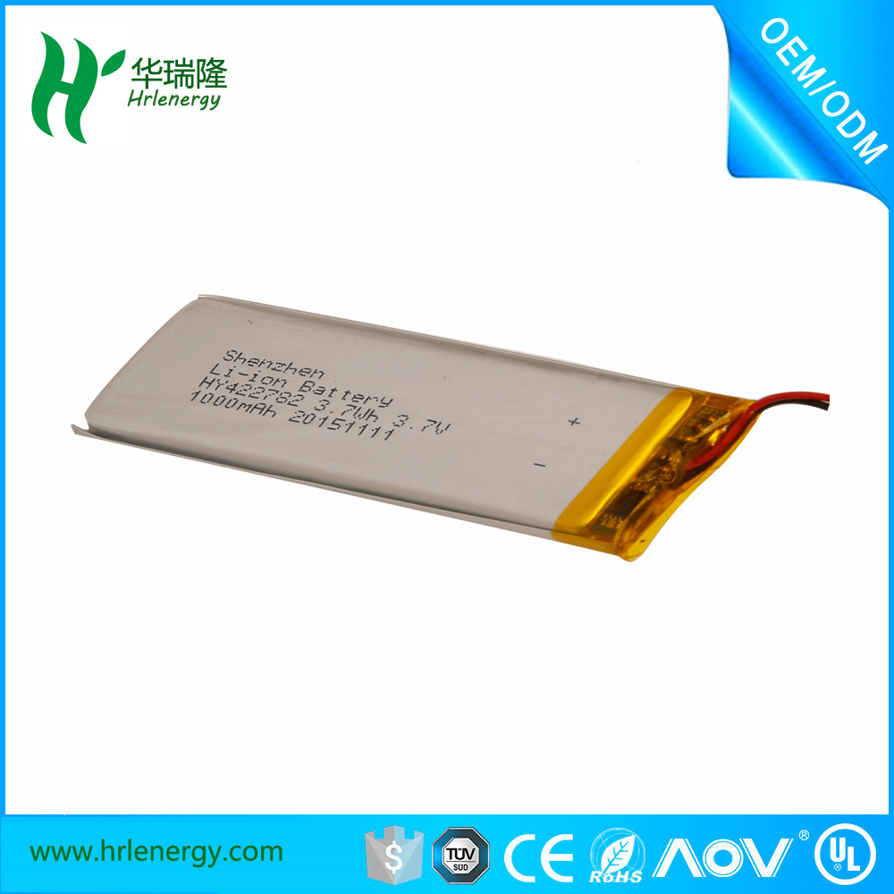 High Quality Li-ion Battery 3.7V 1000mAh with Ce Certificate