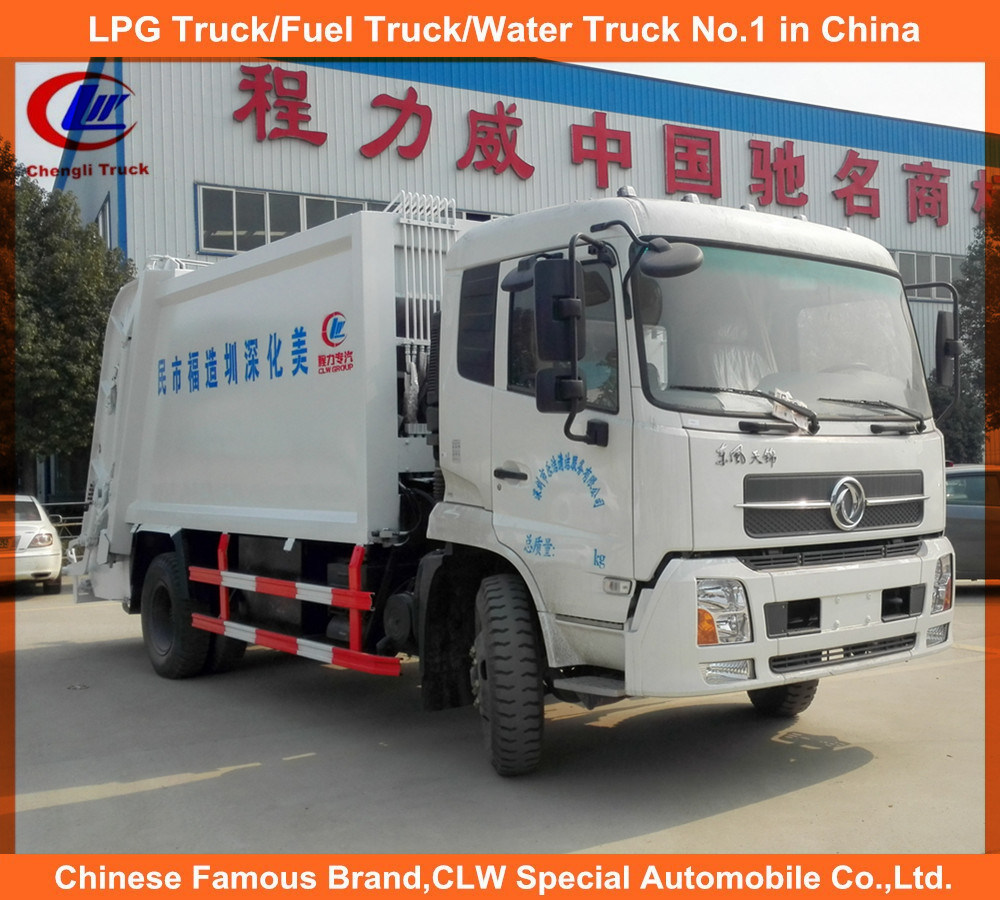 Dongfeng 4X2 Medium 5tons Garbage Truck 8tons Garbage Compactor Truck