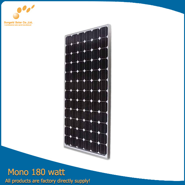180W Monocrystalline Solar Panel Module with A Grade Solar Cell