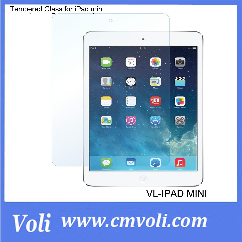 9h, Anti Blast, Anti Sscratch, High Definition, Anti Oil Tempered Glass for iPad Mini