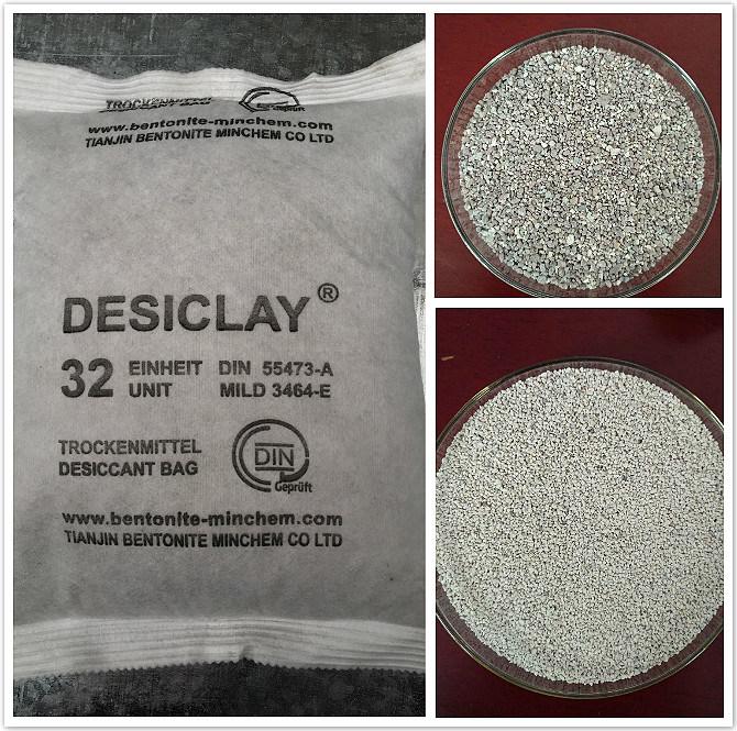 High Moisture Absorber Bentonite Desiccant