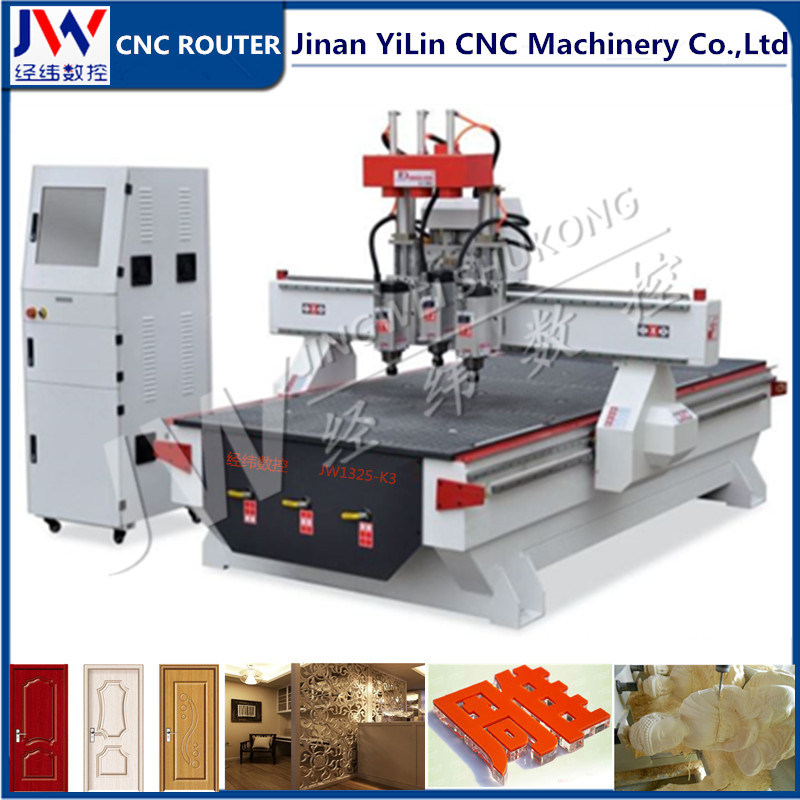 1325 3 Axis Woodworking CNC Cutting Router for Cabinet Furniture Door