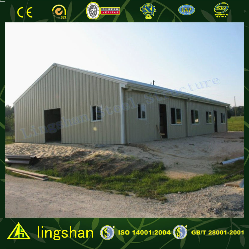 SGS Approved Low Cost Steel Prefabricated Building for Workshop (L-S-47)