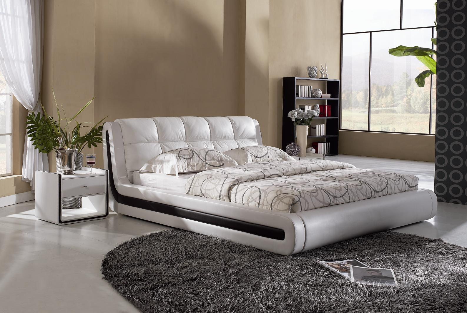 Modern Bed Back Designs : Modern Bed Design (L-8132) - China Bed Design , Bed Designs