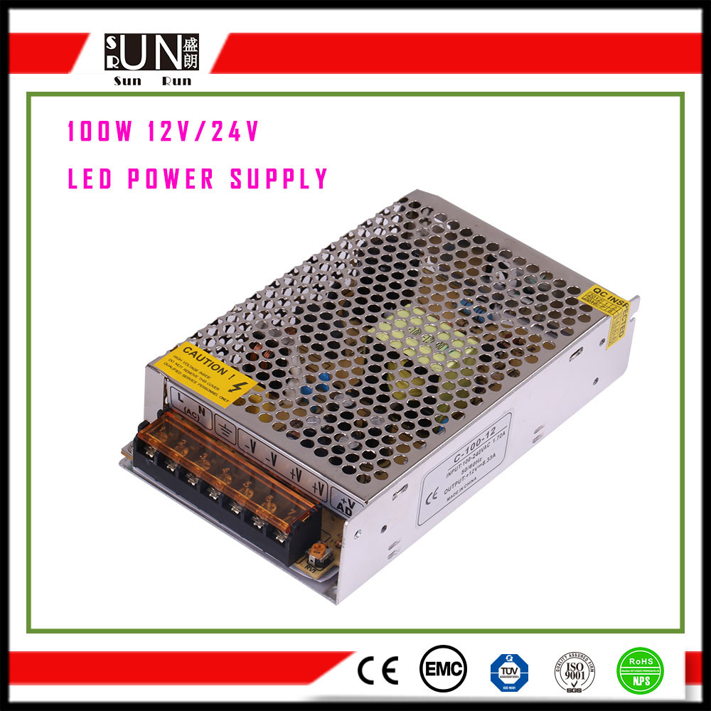 100W DC5V LED Power Supply LED Driver 2 Years Warranty, Aluminum Switching Power Supply