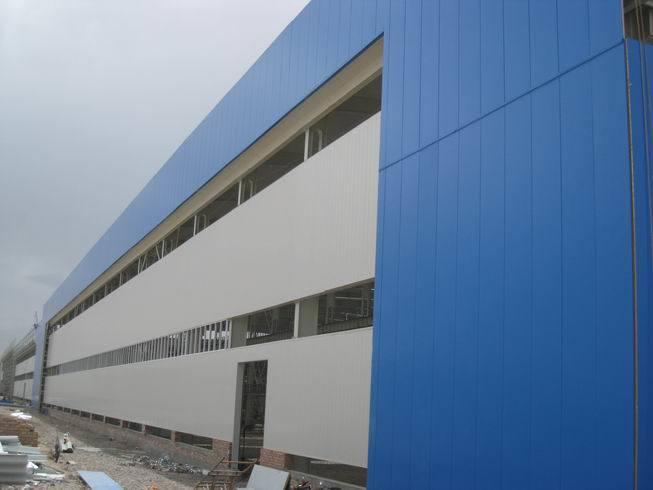 Steel Structure Industrial Workshop with Crane and Mezzanine Floor