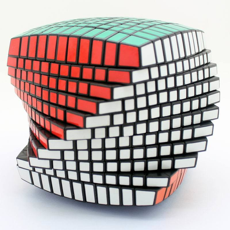 11X11 Twisty Spring 11 Order Magic Puzzle Cube 11X11X11 with Free Sticker
