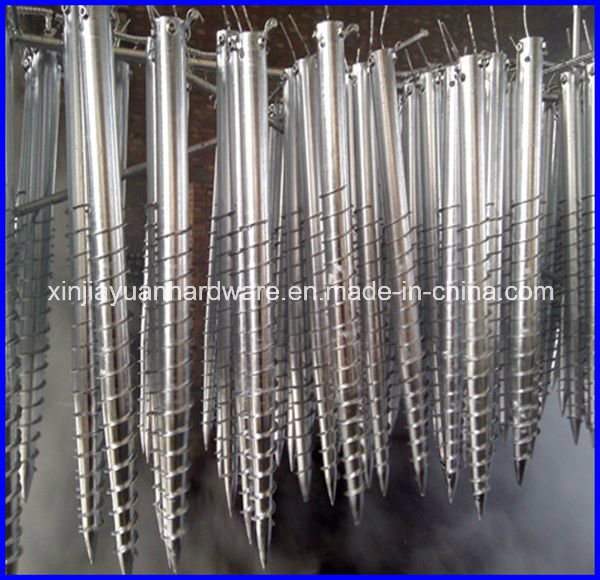 Q235 Galvanized Ground Screw Anchor for Solar System