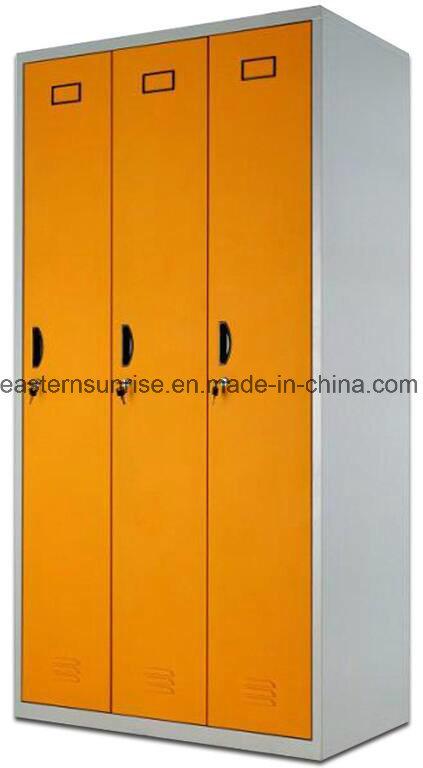 Changing Room Use 3 Door Metal Steel Iron Clothe Locker