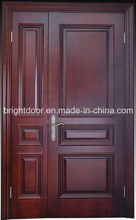 China latest design oak wood exterior main door models for Latest main door
