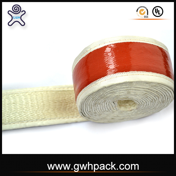 Red Silicone Rubber Fiberglass Heatproof Tape for Steel Wires
