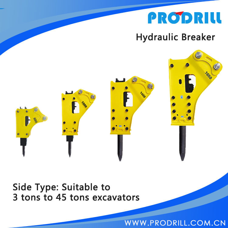 Hydraulic Mounted Rock Jack Breaker for Excavators Parts