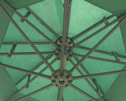 10ft Round Double Roof Banana Umbrella Outdoor Umbrella Garden Umbrella Parasol