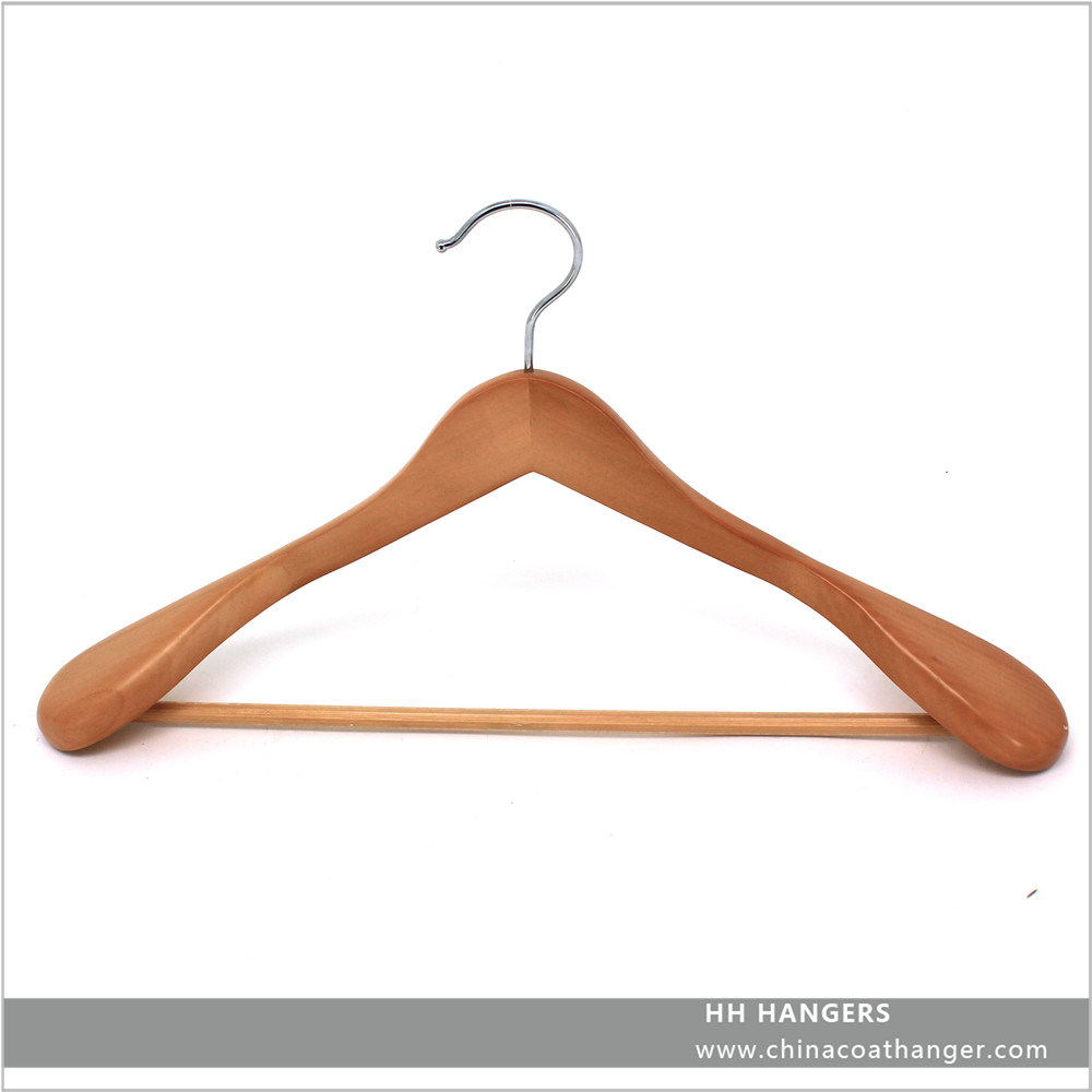 Eco Friendly Wooden Big Shoulder Natural Suit Jacket Hanger