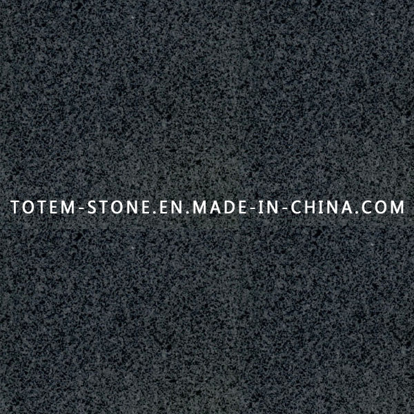 Polished Natural Stone Black Granite for Flooring Tile, Slab, Countertop