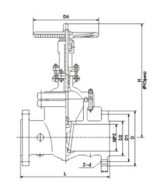 ANSI Cast Steel Gate Valve (Z41H-150LB/300LB/600LB)
