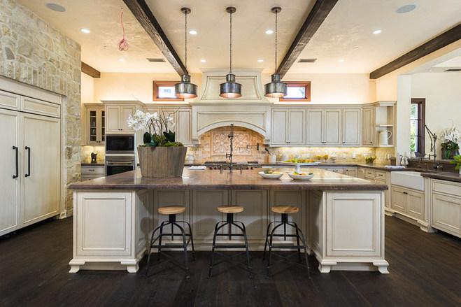 keuken houten enorme  : ... Keukenkasten : Al houten antieke witte keuken van keukenkasten