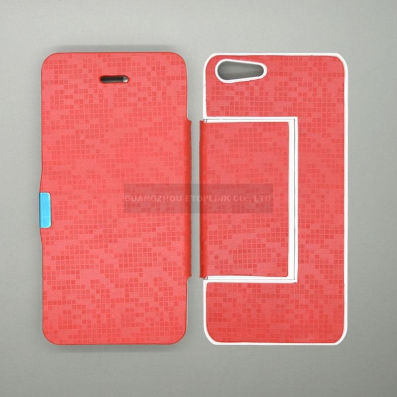 d4de7b400e6 Funda De Piel Pu Para Iphone 5, 5s - $ 179.00 en MercadoLibre