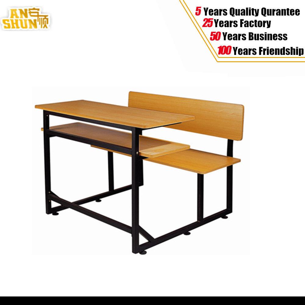 Cheap School Furniture Wooden School Desk and Chair