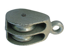 Casting Steel Double Pulley with Zinc Plated or Black Painted