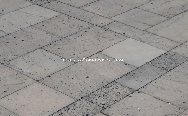 China Black Basalt Lava Stone Paving Tile Photos