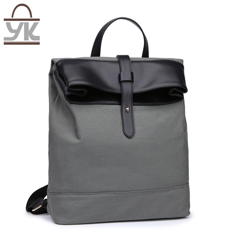 Practical Unisex Contrast Color Designer Handbag Canvas Backpack