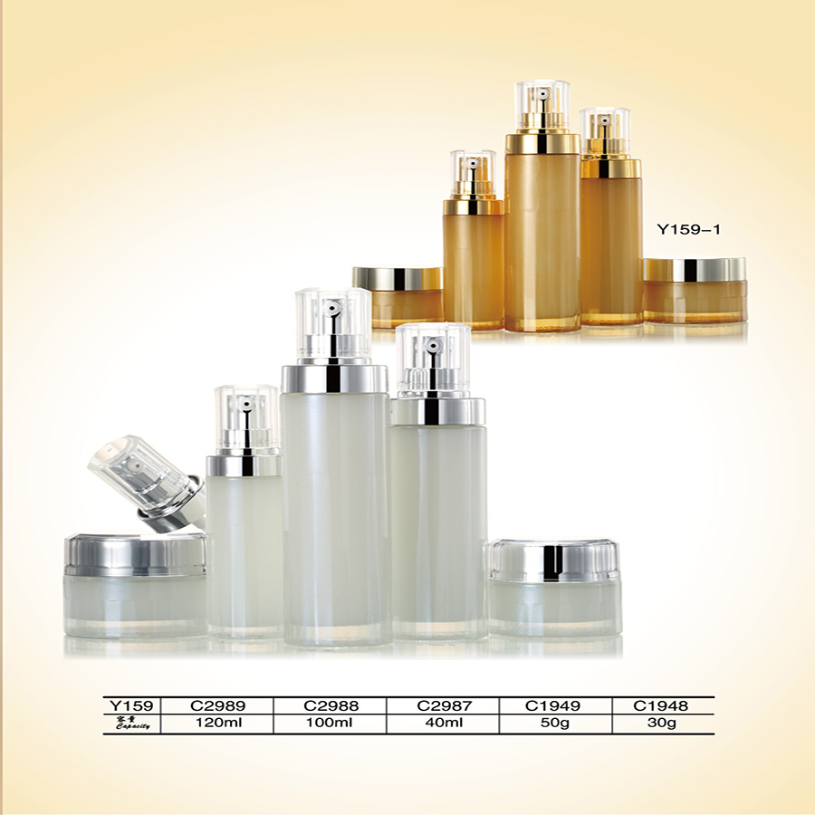 Best Quality Packaging Cosmetics Glass Jars and Airless Bottle with Aluminum Lid