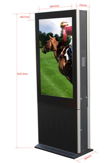 Outdoor Waterproof 55 Inch Transparent LCD Display Screen
