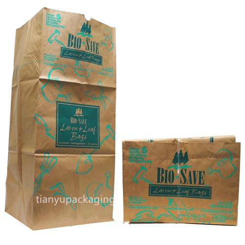 Multi-Layers Environmental Waterproof Brown Paper Rubbish Garbage Trash Bags