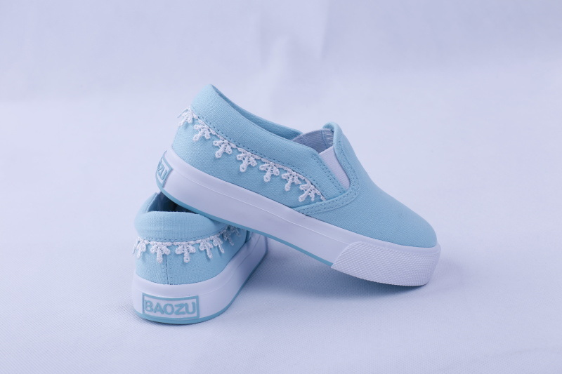 Kids Vulcanzied Shoe Rubber Outsole Canvas Shoes Bz1614