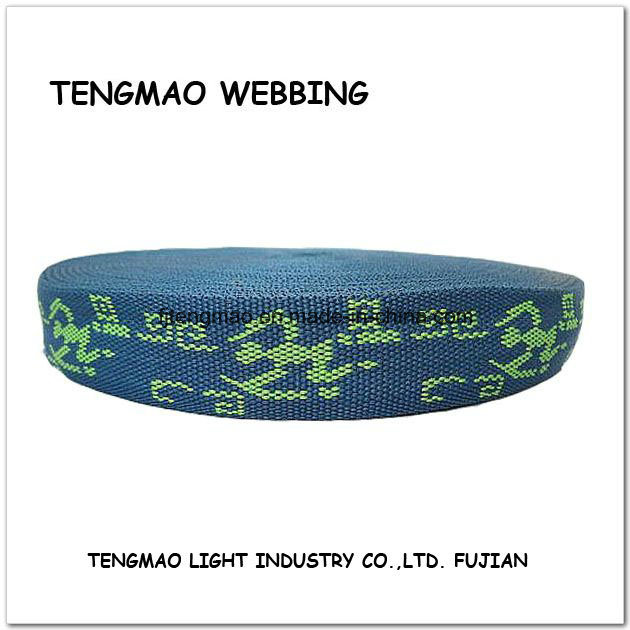 "1.25"" Navy Blue Jacquard Webbing for Textile"