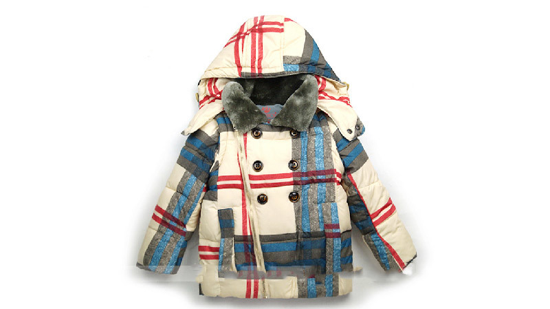Plaid Warm Children Clothing for Children Wear