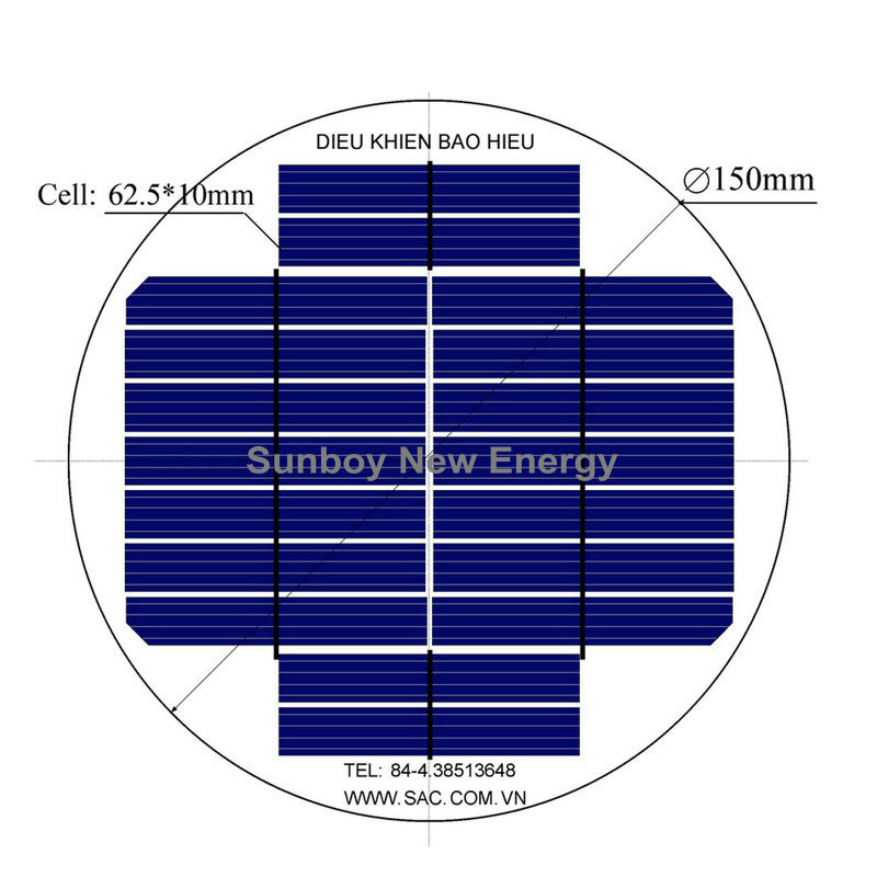China Custom Design Round Solar Panel 9v 200ma Sbed150