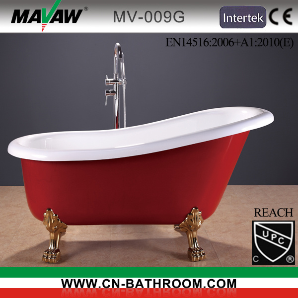 China Hot European Style Acrylic Bathtub Mv 009g R Photos