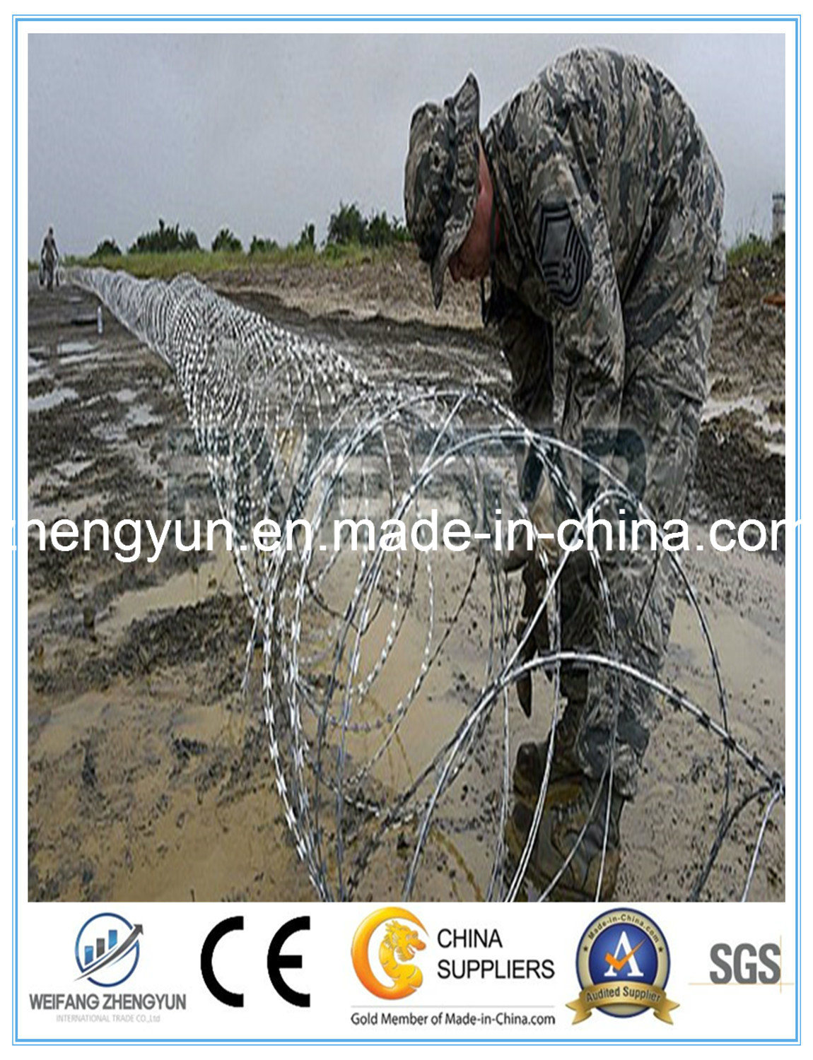 Concertina Razor Wire/Razor Blade Barbed Wire