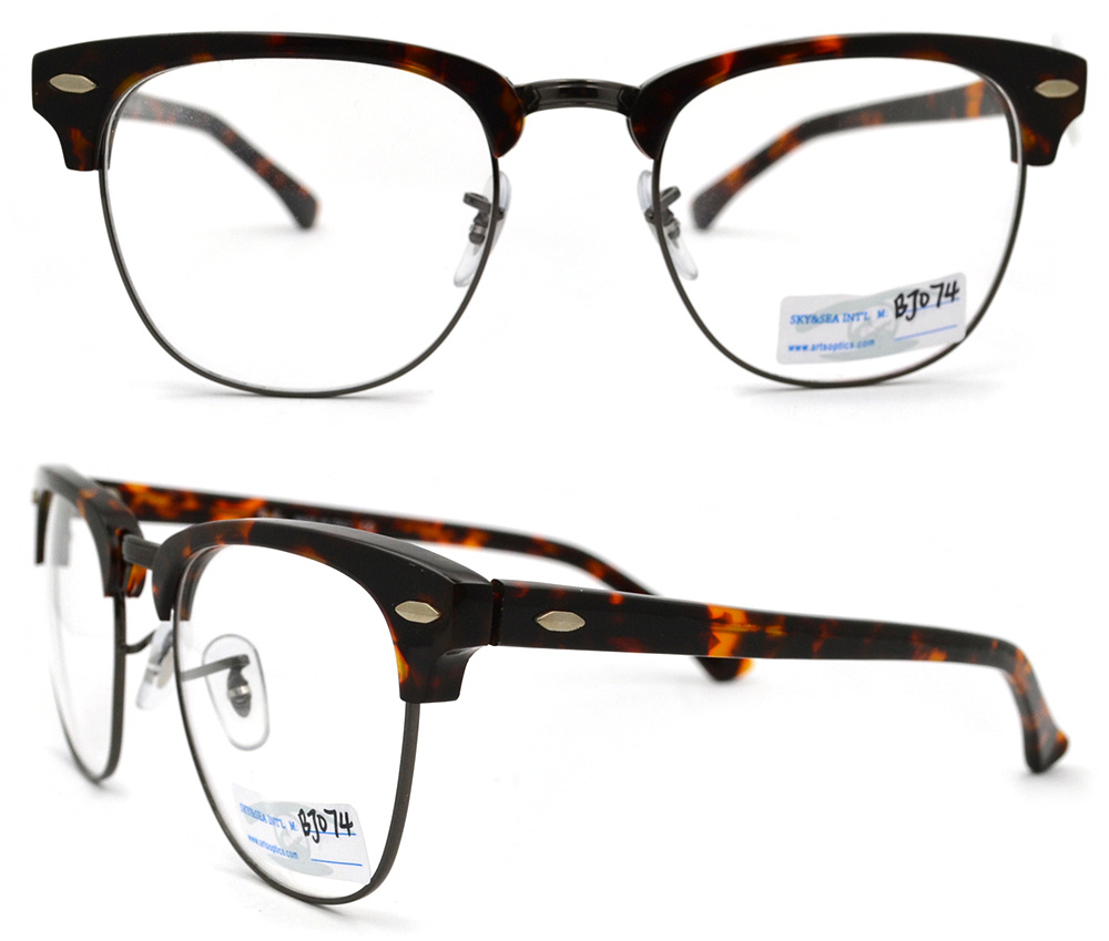 2015 new design half glasses acetate frame bj12 074