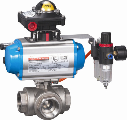 Pneumatic Butterfly Valve with Actuator (HAT-240D)