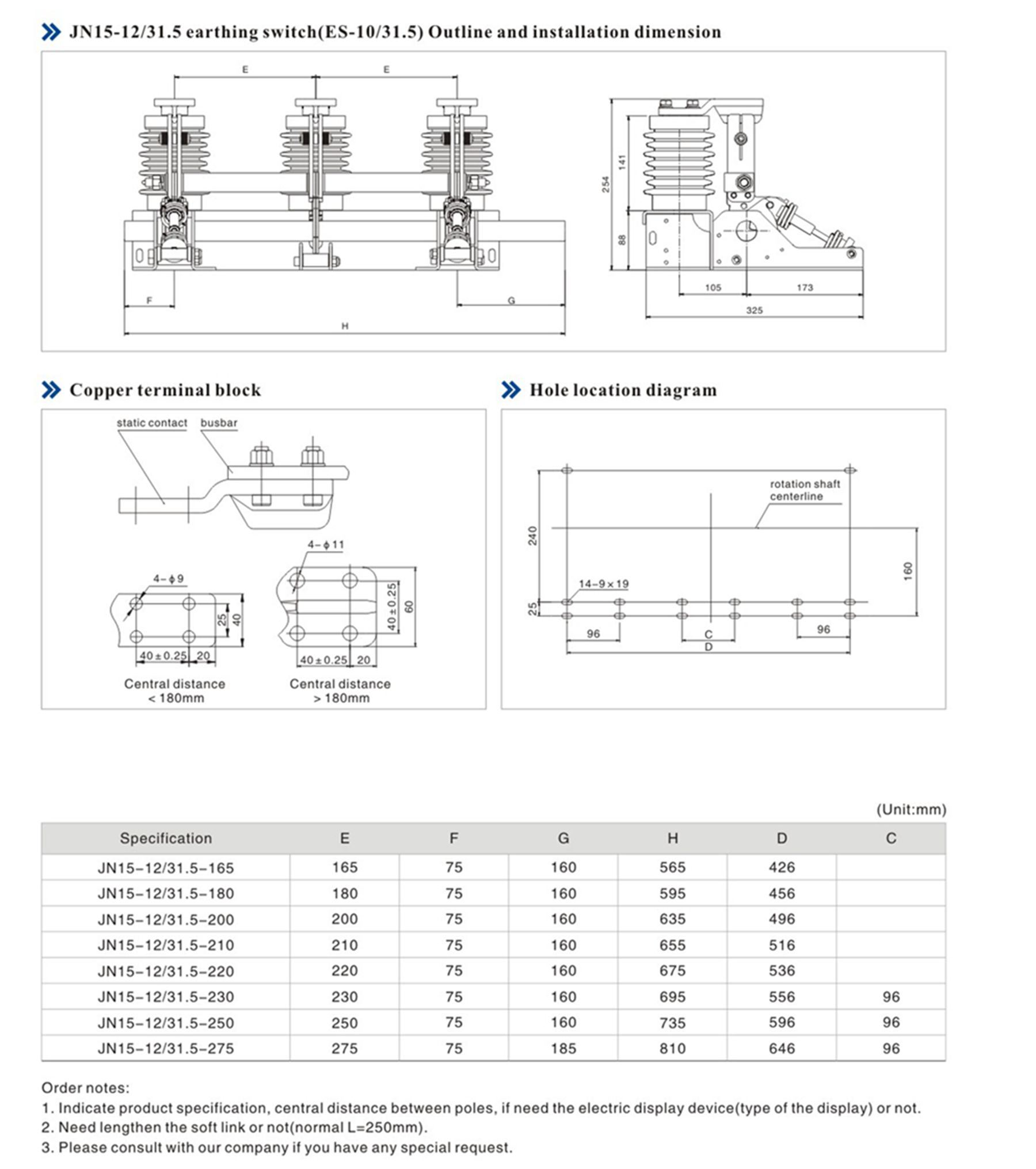 Earthing Switch for 12kv Indoor High-Voltage Switchgear
