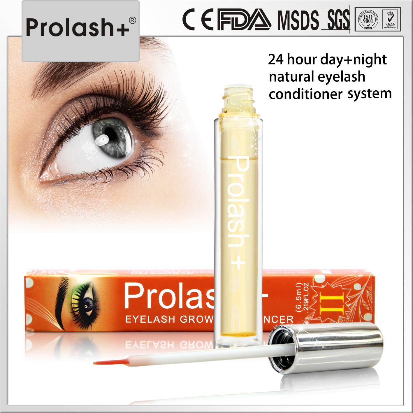 Prolash+ Eyelashes Easy Application Eyelash Growth Liquid Cosmetic